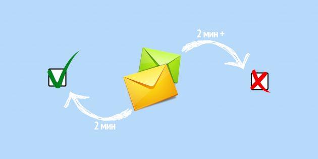 Сэкономить время и стать продуктивнее поможет простое правило для разбора почты
