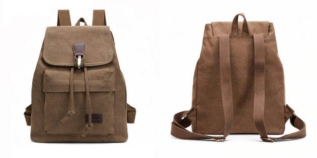 Холщовый рюкзак