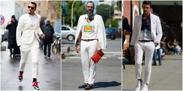 Мужская мода 2018: Весь в белом