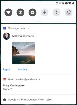Android P: уведомления