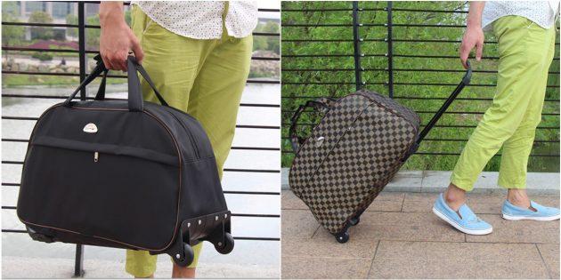 размер ручной клади в самолёте: сумки