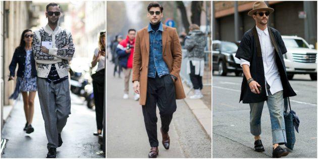 Мужская мода 2018: Свободные брюки