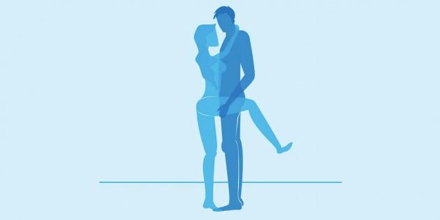 Секс стоя: С поднятой ногой