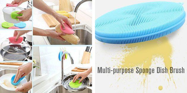 Силиконовые губки для посуды