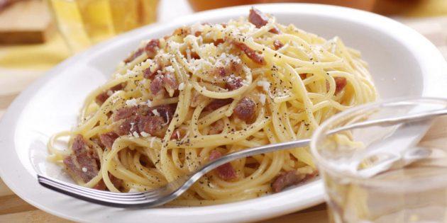 Рецепт пасты карбонара