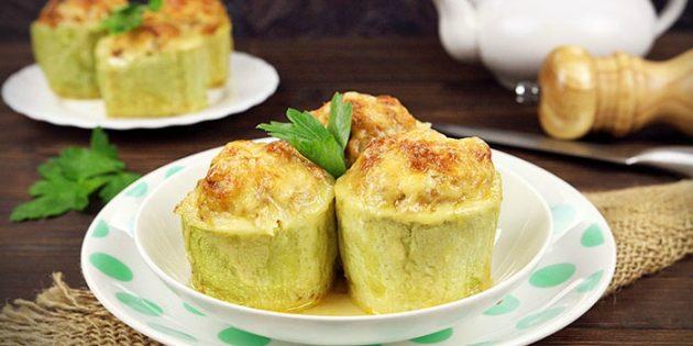 Блюда из кабачков: кабачки с фаршем