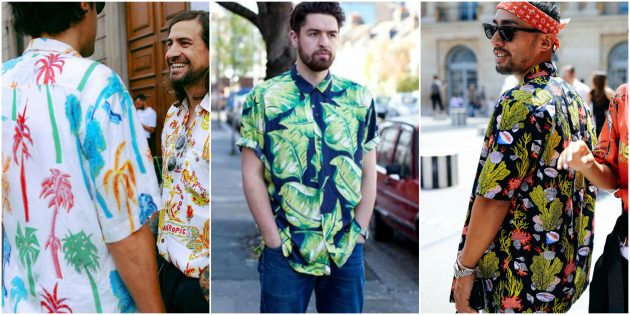 Мужская мода 2018: Рубашка или футболка с тропическим принтом