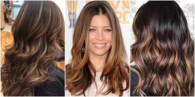 Модные цвета волос: карамельное омбре