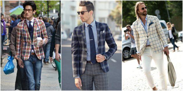 Мужская мода 2018: Пиджак в клетку