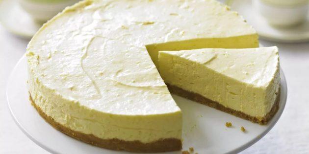 Рецепты чизкейка: Лимонно-творожный чизкейк без выпечки