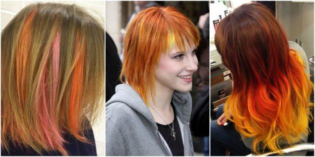 Модные цвета волос: оранжевый