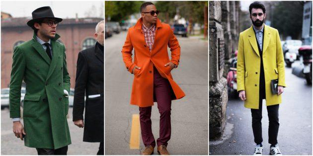 Мужская мода 2018: Цветные пальто