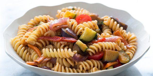 Рецепты пасты: Паста примавера с овощами