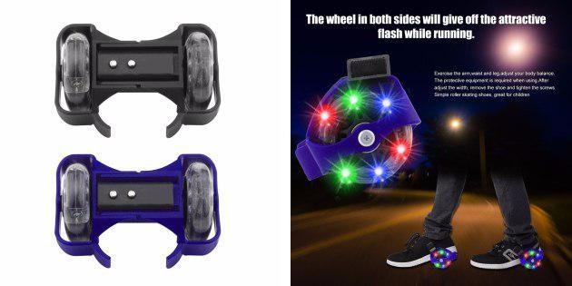 Светящиеся колёса для обуви