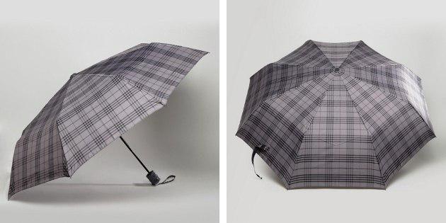 Клетчатый зонт