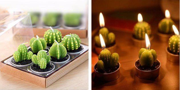 Свечи-кактусы