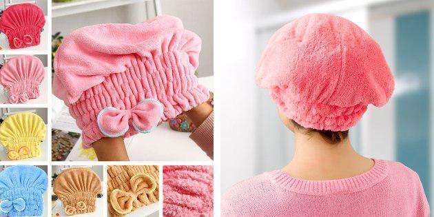 Полотенце в виде шапочки