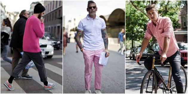 Мужская мода 2018: Немного розового и пастели