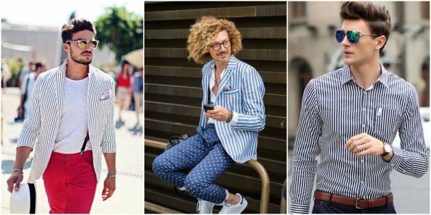 Мужская мода 2018: Вертикальная полоска