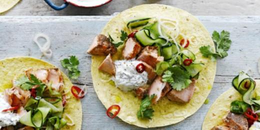 Что приготовить на ужин: тако с лососем и специями