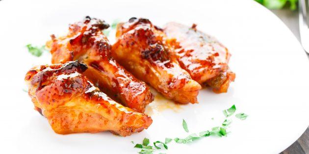 Куриные крылышки в медовом соусе: простой рецепт