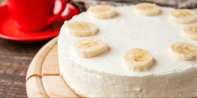 Банановый чизкейк: простой рецепт