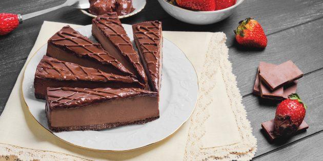 Шоколадный чизкейк: простой рецепт