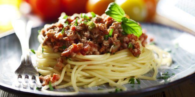 Рецепты пасты: Спагетти болоньезе