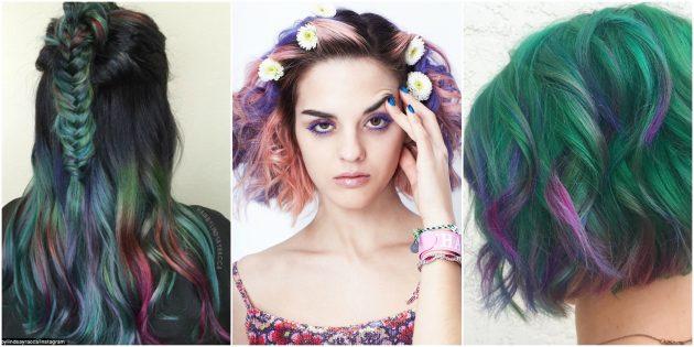 Модное окрашивание волос: Суккулент
