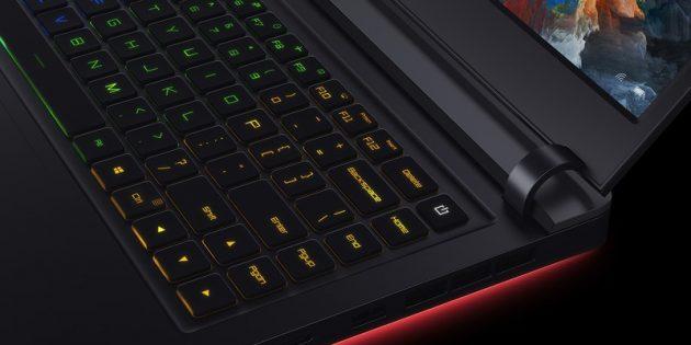Mi Gaming Laptop: клавиатура
