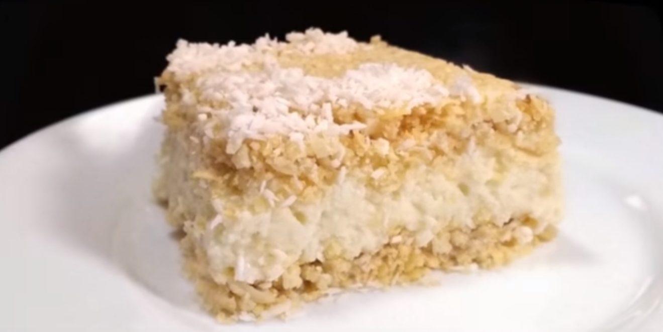 торт из вафельных коржей наполеон из печенья как приготовить