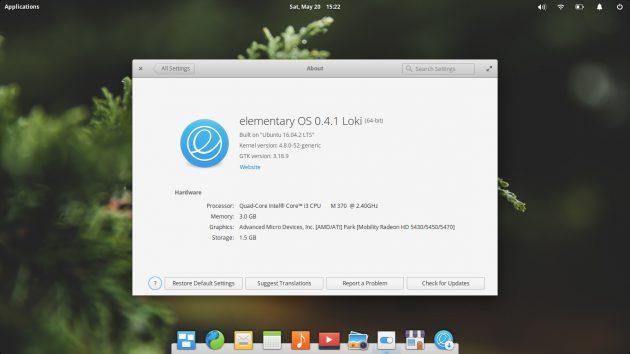 Версия Linux для ноутбука — elementary OS