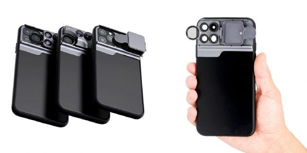 Лучшие чехлы для iPhone: Чехол с линзами для камеры