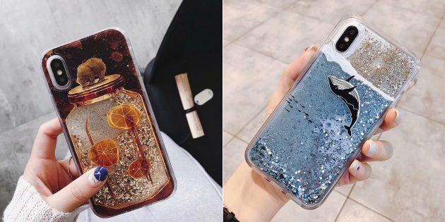 Лучшие чехлы для iPhone: Чехол с жидким песком