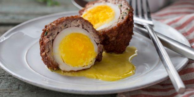 Яйца по-шотландски с гречкой