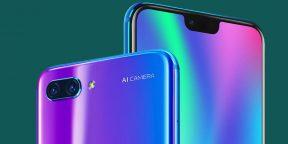 Huawei анонсировала бюджетный флагман Honor 10 с выемкой на экране
