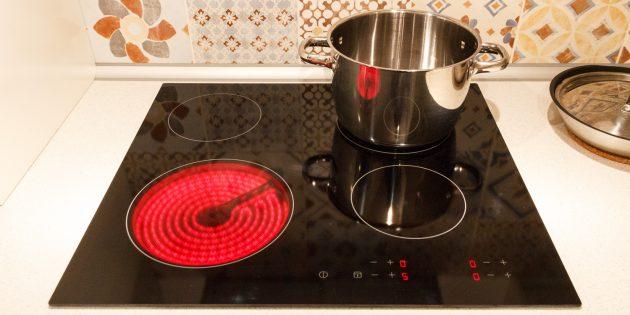 расход электричества: плита