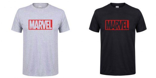 Футболки с логотипом Marvel