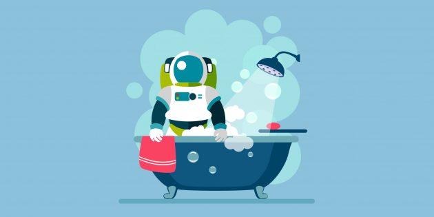 Как ванны с водой заменяют учёным, изучающим здоровье космонавтов, условия невесомости