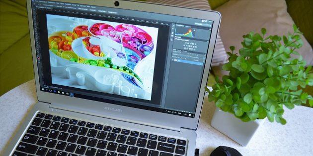 Teclast F7. Работа в Photoshop