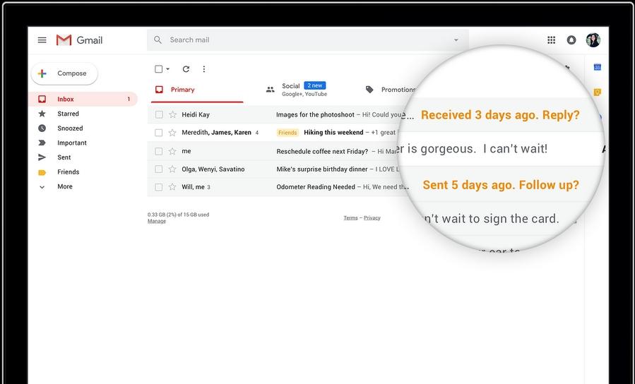 Google запускает новый интерфейс Gmail