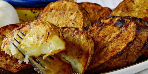 Рецепты на гриле: Маринованная картошка