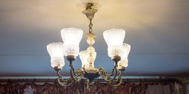 расход электричества: местное освещение