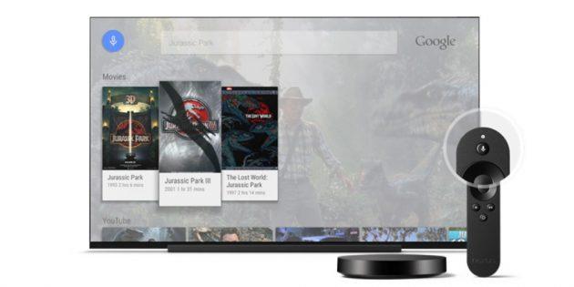 Android TV: голосовой поиск
