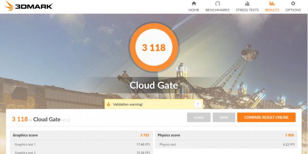 Teclast F7. 3D Mark Cloud Gate