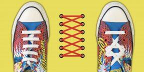 15 оригинальных способов зашнуровать кроссовки и кеды
