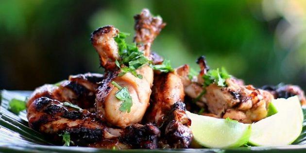 Рецепты на гриле: Куриные ножки в соево-медовом маринаде
