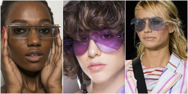 Модные женские очки без оправы