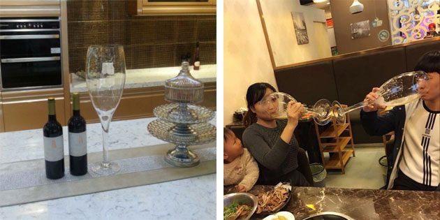 Полуметровый бокал для вина