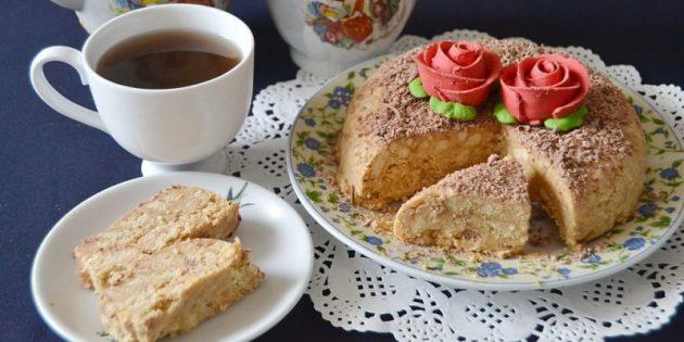 Торт из печенья со сгущенкой